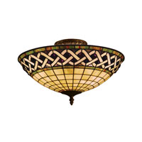 Angel Wing 3 Light 16 inch Classic Bronze Semi-Flush Mount Ceiling Light