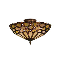 ELK Lighting Jewel 3 Light Semi-Flush Mount in Tiffany Bronze 938-TB
