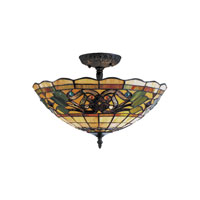 ELK Lighting Tiffany Buckingham 3 Light Semi-Flush Mount in Vintage Antique 942-VA