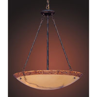 ELK Lighting Engravers 5 Light Pendant in Rust 9633/5 photo thumbnail