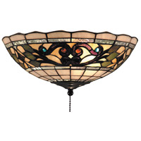 Tiffany Buckingham 2 Light 12 inch Vintage Antique Flush Mount Ceiling Light in Tiffany D Glass