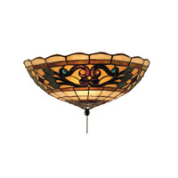 Tiffany Buckingham 2 Light 12 inch Vintage Antique Flush Mount Ceiling Light