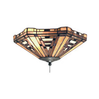 ELK Lighting American Art 2 Light Flush Mount in Classic Bronze 990-F