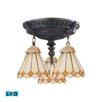 ELK Lighting Mix-N-Match 3 Light LED Semi Flush in Aged Walnut 997-AW-05-LED