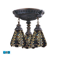 ELK Lighting Mix-N-Match 3 Light Semi-Flush Mount in Aged Walnut 997-AW-20-LED