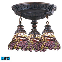 ELK Lighting Mix-N-Match 3 Light Semi-Flush Mount in Aged Walnut 997-AW-28-LED