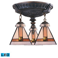 ELK 997-AW-01-LED Mix-N-Match LED 14 inch Aged Walnut Semi Flush Mount Ceiling Light in Tiffany 01 Glass