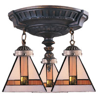 ELK Lighting Mix-N-Match 3 Light Semi-Flush Mount in Aged Walnut 997-AW-01