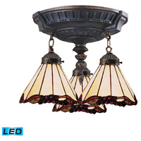 ELK 997-AW-03-LED Mix-N-Match LED 14 inch Aged Walnut Semi Flush Mount Ceiling Light in Tiffany 03 Glass