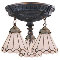 ELK Lighting Mix-N-Match 3 Light Semi-Flush Mount in Aged Walnut 997-AW-04