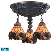 ELK 997-AW-07-LED Mix-N-Match LED 14 inch Aged Walnut Semi Flush Mount Ceiling Light in Tiffany 07 Glass