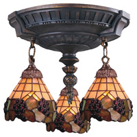 ELK Lighting Mix-N-Match 3 Light Semi-Flush Mount in Aged Walnut 997-AW-07