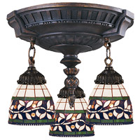 ELK Lighting Mix-N-Match 3 Light Semi-Flush Mount in Aged Walnut 997-AW-13