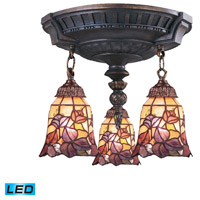ELK 997-AW-17-LED Mix-N-Match LED 14 inch Aged Walnut Semi Flush Mount Ceiling Light in Tiffany 17 Glass