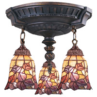 ELK Lighting Mix-N-Match 3 Light Semi-Flush Mount in Aged Walnut 997-AW-17