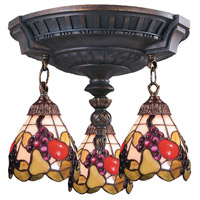 ELK Lighting Mix-N-Match 3 Light Semi-Flush Mount in Aged Walnut 997-AW-19