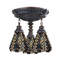 ELK Lighting Mix-N-Match 3 Light Semi-Flush Mount in Aged Walnut 997-AW-20
