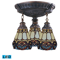 ELK 997-AW-21-LED Mix-N-Match LED 14 inch Aged Walnut Semi Flush Mount Ceiling Light in Tiffany 21 Glass