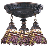 ELK Lighting Mix-N-Match 3 Light Semi-Flush Mount in Aged Walnut 997-AW-28