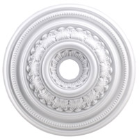 ELK Lighting English Study Medallion in White M1012WH