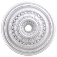 ELK Lighting English Study Medallion in White M1022WH