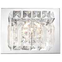 Crown 1 Light 6 inch Chrome Vanity Light Wall Light