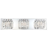 Crown 3 Light 21 inch Chrome Vanity Light Wall Light