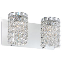 Queen 2 Light 13 inch Chrome Vanity Wall Light