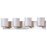 Combo 4 Light 26 inch Chrome Vanity Wall Light