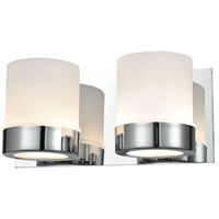 Mulholland 2 Light 11 inch Chrome Vanity Wall Light