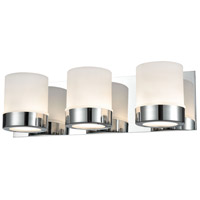 Mulholland 3 Light 17 inch Chrome Vanity Wall Light