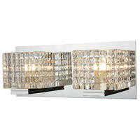 ELK BV2312-0-15 Chastain 2 Light 12 inch Chrome Vanity Wall Light