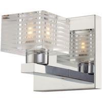 ELK BV311-90-15 Quatra 1 Light 5 inch Chrome Vanity Light Wall Light