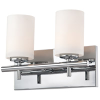 Barro 2 Light 12 inch Chrome Vanity Wall Light