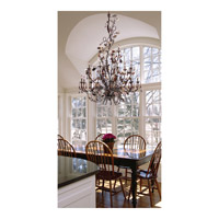 ELK 7046/3 Cristallo Fiore 3 Light 27 inch Deep Rust Semi-Flush Mount Ceiling Light alternative photo thumbnail