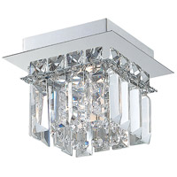 Crown 1 Light 6 inch Chrome Flush Mount Ceiling Light