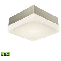 Wyngate LED 5 inch Satin Nickel Flush Mount Ceiling Light, Small Square