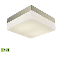 Wyngate LED 8 inch Satin Nickel Flush Mount Ceiling Light, Medium Square