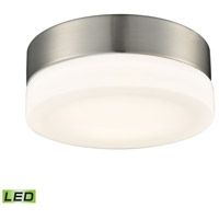 Holmby LED 6 inch Satin Nickel Flush Mount Ceiling Light, Small Round