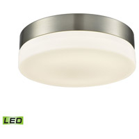 Holmby LED 9 inch Satin Nickel Flush Mount Ceiling Light, Medium Round