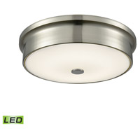 Towne LED 12 inch Satin Nickel Flush Mount Ceiling Light, Small Round