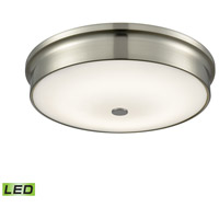Towne LED 15 inch Satin Nickel Flush Mount Ceiling Light, Large Round