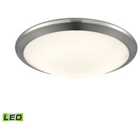 Clancy LED 12 inch Chrome Flush Mount Ceiling Light, Small Round