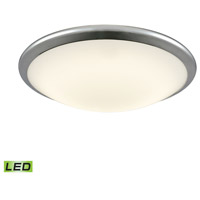 Clancy LED 15 inch Chrome Flush Mount Ceiling Light, Large Round