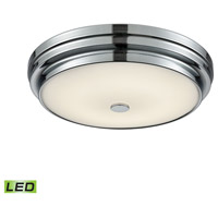 Garvey LED 13 inch Chrome Flush Mount Ceiling Light, Small Round
