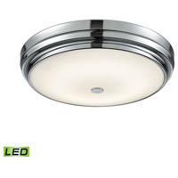 Garvey LED 16 inch Chrome Flush Mount Ceiling Light, Large Round
