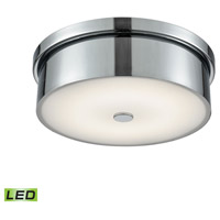 Towne LED 12 inch Chrome Flush Mount Ceiling Light, Small Round