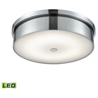 Towne LED 15 inch Chrome Flush Mount Ceiling Light, Large Round