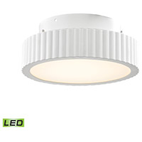ELK FML600-10-30 Digby LED 10 inch Matte White Flush Mount Ceiling Light