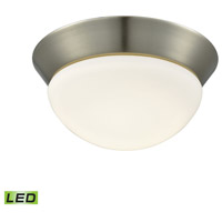 Contours LED 8 inch Satin Nickel Flush Mount Ceiling Light, Small